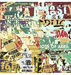 Old Torn Posters vector image