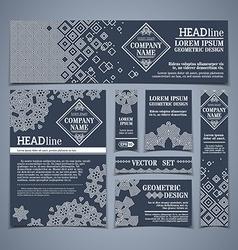 set of dark vintage design templates vector image
