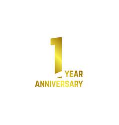 1 year anniversary logo template design vector