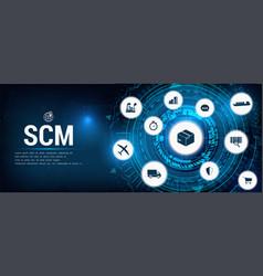 Aspects of modern company logistics processes scm vector