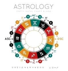 Astrology background vector image