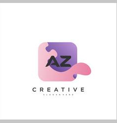 Az initial letter logo icon design template vector