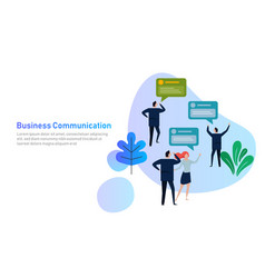 Business people group chat communication bubble vector