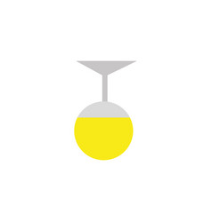 ceiling lamp energy electricity light flat icon vector image