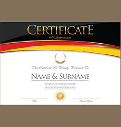 Certificate or diploma germany flag design vector