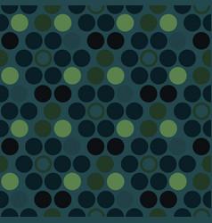 circle irregular geometric seamless pattern vector image