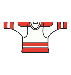 color icon hockey rugby baseball uniform vector image