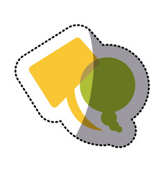 Color squere and round chats bubbles icon vector