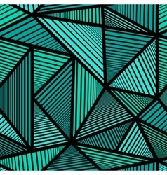 Colorful pattern with green triangle vector image