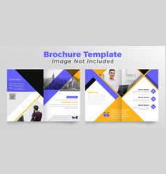 Corporate bifold business brochure vector