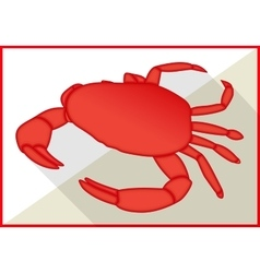 Crab isometric flat 3d vector image