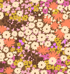Cute vintage popcorn flowers vector