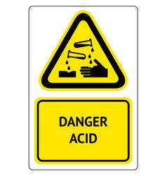 Danger acid symbol vector