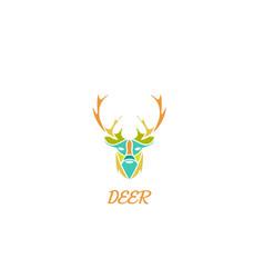 deer art logo vector image