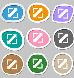 Deploying video screen size icon sign multicolored vector