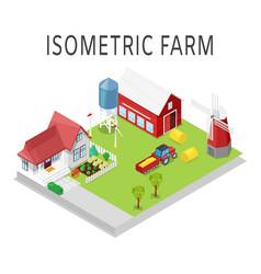 farm isometric rural farming vector image