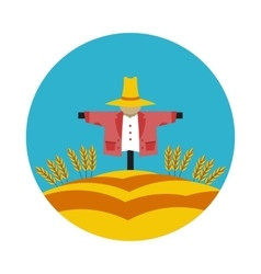 flat icon Scarecrow vector image