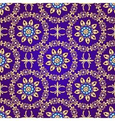 Floral violet seamless pattern vector image