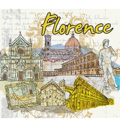 Florence doodles vector