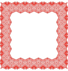 Frame with ethnic elements vector