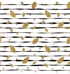 grunge autumnal linear background with golden vector image