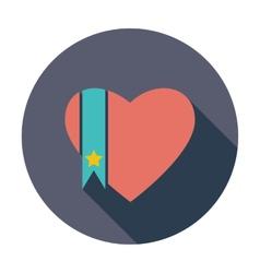 Heart flat icon vector
