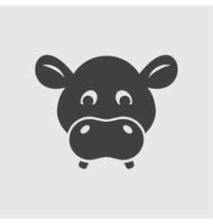 Hippo icon vector