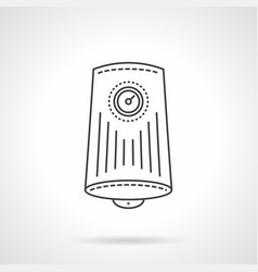 household water boiler flat line icon vector image