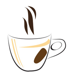 Isolated coffee mug logo vector