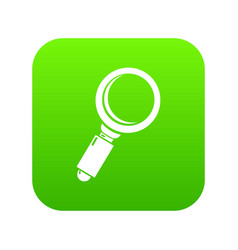 Loupe icon green vector