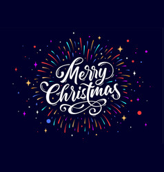 merry christmas lettering text for merry vector image