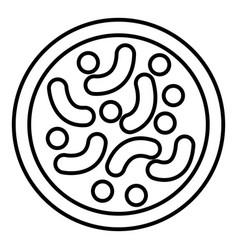 Microscopic bacteria icon outline style vector