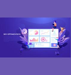 modern flat design seo optimization concept seo vector image