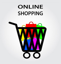 online shopping design eps10 graphic vector image