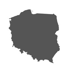 poland map black icon on white background vector image