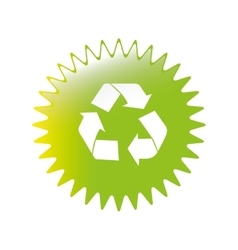Recycle emblem icon image vector