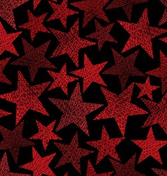 Red stars seamless pattern repeating background vector image
