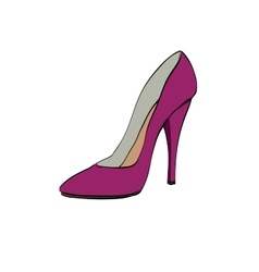 Red womens high heels vector image
