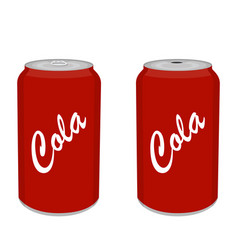 refreshing cold soda iced soft drinks can vector image