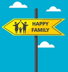 RoadSignFamily vector image
