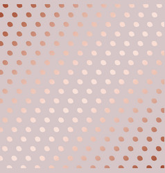 Rose gold decorative pattern with dots vector