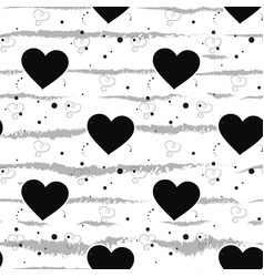 seamless black and white pattern of dots vector image