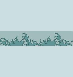 seamless color border made waves vector image