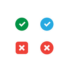 Set accept and decline icons vector
