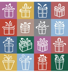 set gift boxes vector image