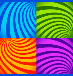 set of colorful abstract backgrounds in vivid vector image