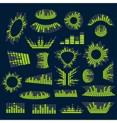 Set of digital music equalizer design vector