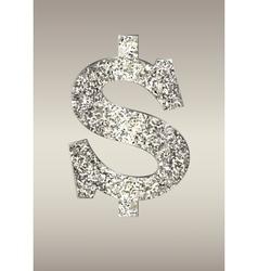 Shiny dollar on a light background vector image