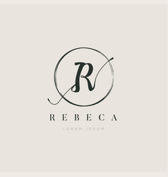 simple elegant initial letter type r logo sign vector image