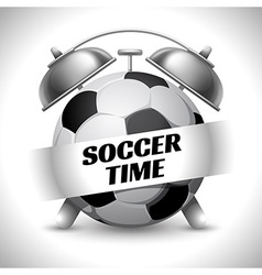 Soccer time vector image